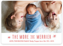The More, the Merrier Holiday Photo Cards