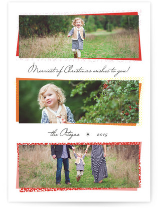 Mod Photo Stack Holiday Photo Cards