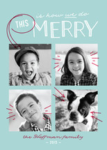 We Do Merry Holiday Photo Cards