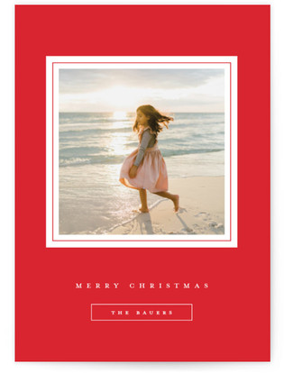 Gilded Frame Holiday Photo Cards