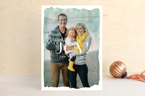 Aquarelle no.2 Holiday Photo Cards