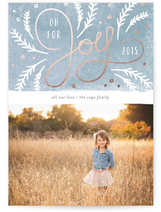 Pine Sprigs Holiday Photo Cards