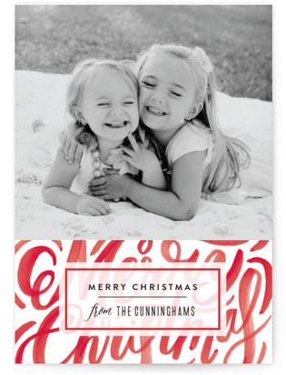 Scripted Texture Holiday Photo Cards