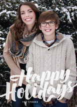 Abundant Happy Holiday Photo Cards