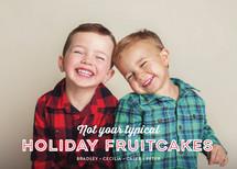 Holiday Fruitcakes Holiday Photo Cards