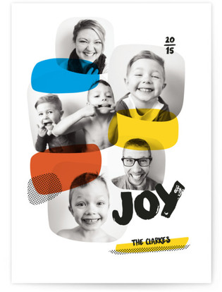 Popstract Multi Holiday Photo Cards