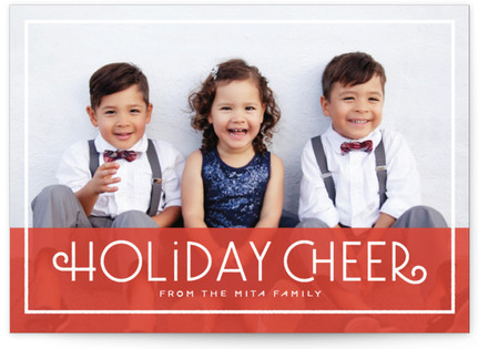 Cheerful Greeting Holiday Photo Cards