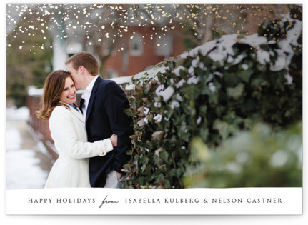 Sparkling Snow Holiday Photo Cards