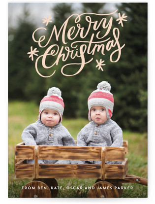 Classically Scripted Christmas Holiday Photo Cards