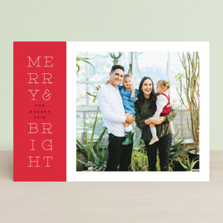 bright stack Holiday Photo Cards
