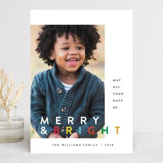 the happy minimalist Holiday Photo Cards