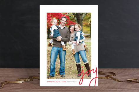 Dotted Joy Holiday Photo Cards