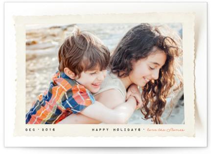 Retro Snapshot Holiday Photo Cards
