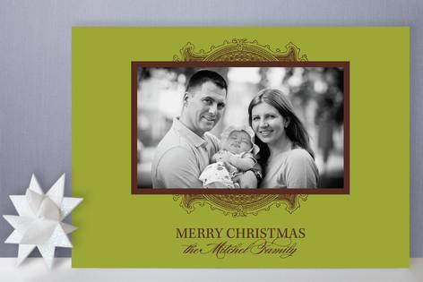 Ornate Frame Holiday Photo Cards