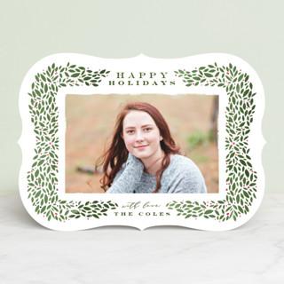 Framed Wreath Holiday Photo Cards