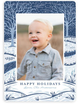 Snowy Day Holiday Photo Cards