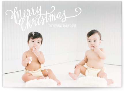 Merry Scriptmas Holiday Photo Cards