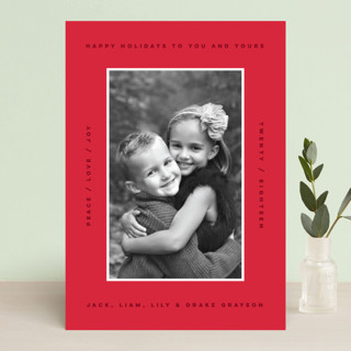 border boldness Holiday Photo Cards