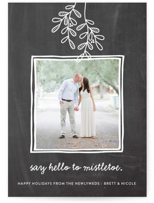 Hello to Mistletoe Holiday Photo Cards