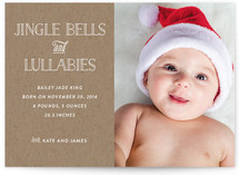 Jingle Bells and Lullabies Holiday Photo Cards