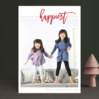 The Happiest Holidays Holiday Photo Cards