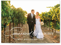 Merry Married & Bright Holiday Photo Cards
