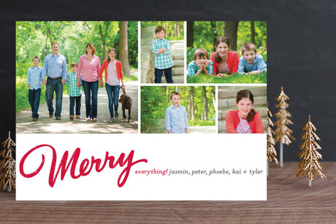 Merry Mosaic Holiday Photo Cards