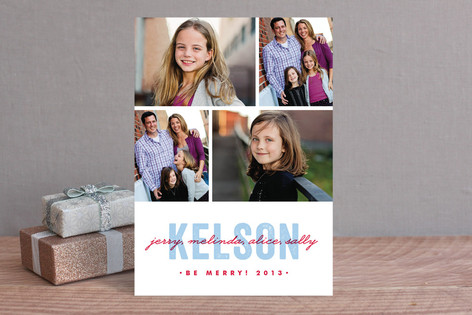 Merry Moniker Holiday Photo Cards