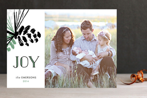 My Pinecones Holiday Photo Cards