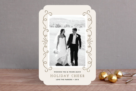 Elegant Holiday Cheer Holiday Photo Cards