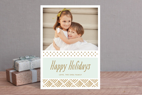 Gilded Holiday Holiday Photo Cards