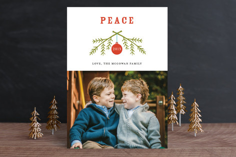 Peaceful Branches Holiday Photo Cards