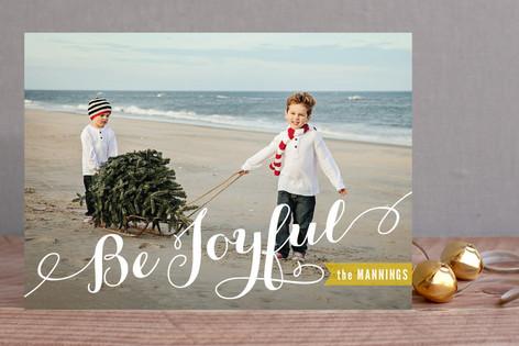 Joyful Script Holiday Photo Cards