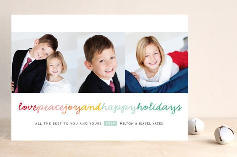 Happy Kisses Holiday Photo Cards