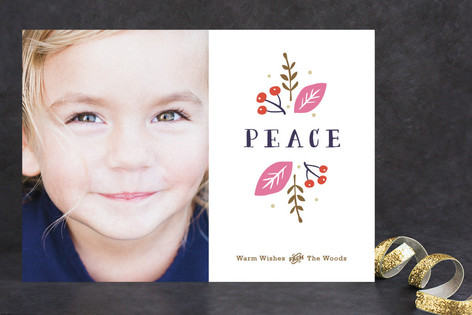 Organic Peace Holiday Photo Cards