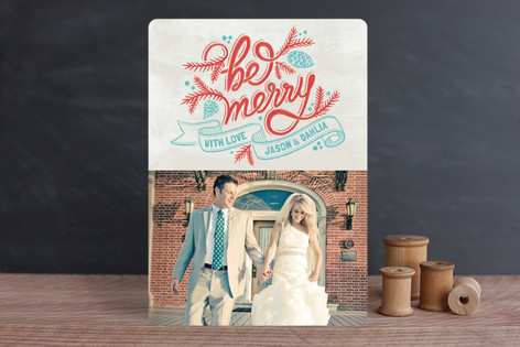 Merrily Scripted Holiday Photo Cards