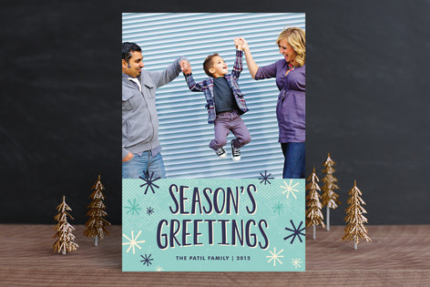 Snow Flurries Holiday Photo Cards