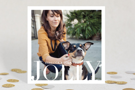 Jolly Be Square Holiday Photo Cards