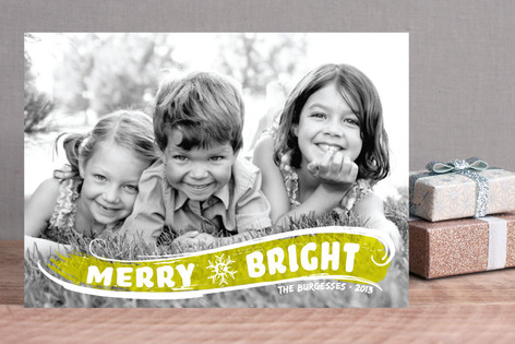 Brightly Painted Holiday Photo Cards