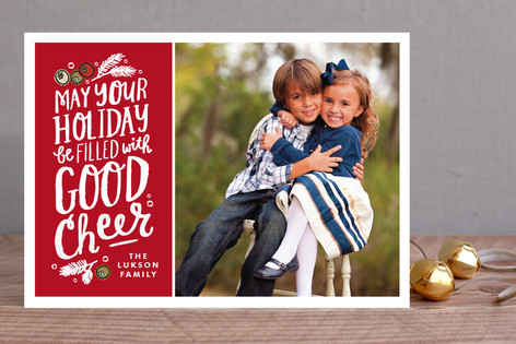 Good Cheer Message Holiday Photo Cards