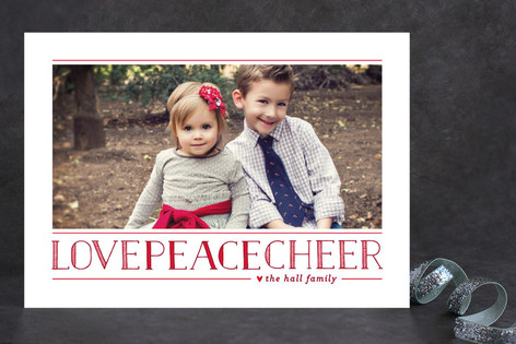 Love Peace Cheer Holiday Photo Cards