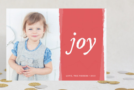 Painted Bright Joy Holiday Photo Cards