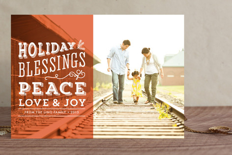 Blessings Overlay Holiday Photo Cards