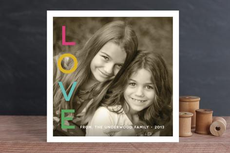 Vivid Noel Stack Holiday Photo Cards