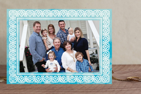 Tropical Snowflake Holiday Photo Cards