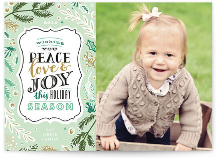 Winter Pines Holiday Photo Cards