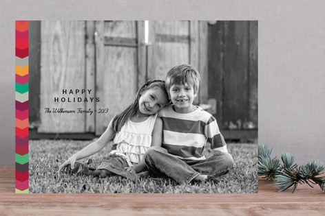 Color Zip Holiday Photo Cards