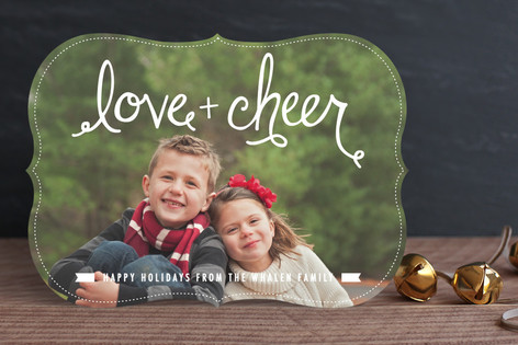 Lettered Love+Cheer Holiday Photo Cards