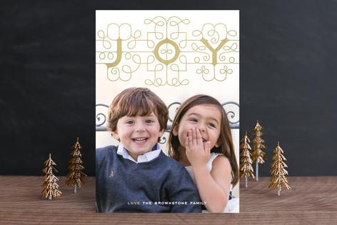 Ornamental Joy Holiday Photo Cards