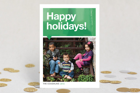 Helvetica Holiday Holiday Photo Cards